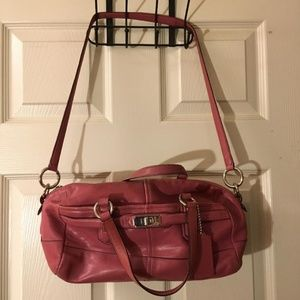 Coach shoulder bag with detachable strap